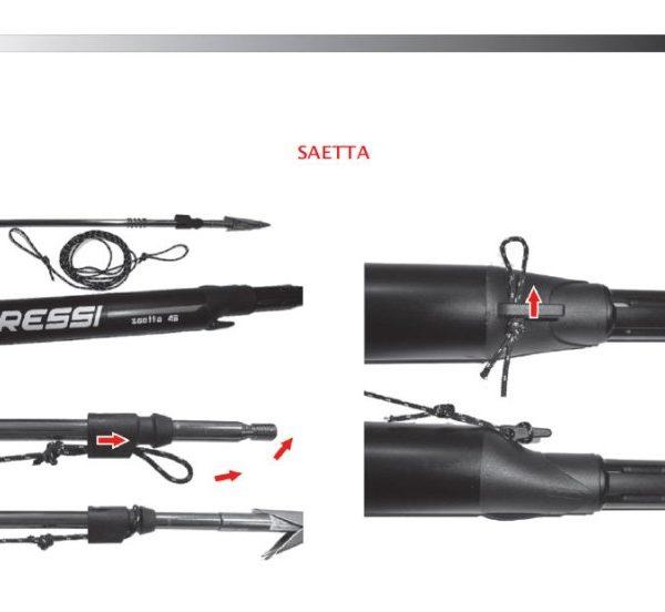 Подводное ружье Cressi Sub Saetta Black 55